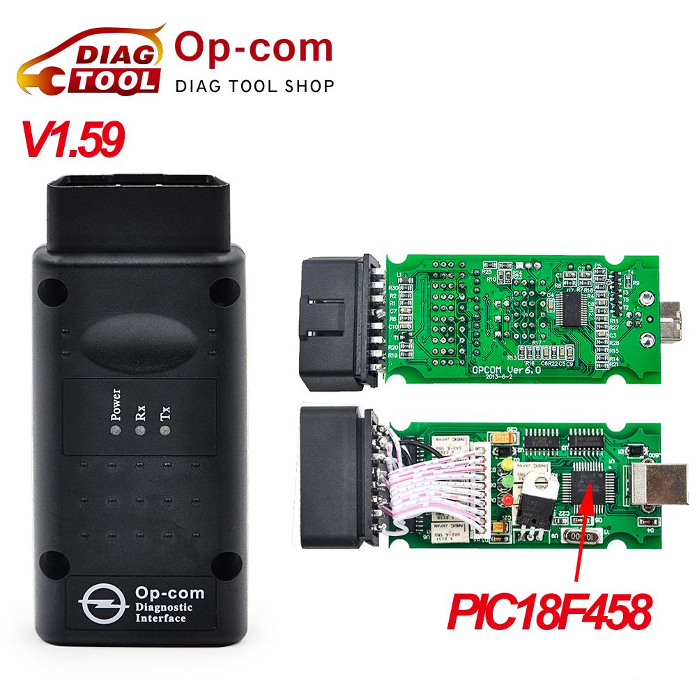 Free Shipping best quality V1.59 OP COM with PIC18F458 CAN BUS OBD2 OP-COM V1.59 OPCOM in stock(China (Mainland))