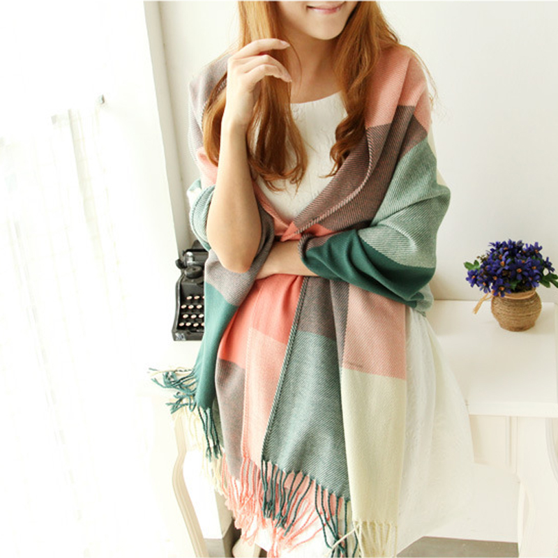 Scarf Women Winter Cachecol Women European And American Style 2015 Winter Light Fringe Scarves Long Shawl