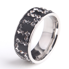 Buy 20pcs/lot 8mm silvery Great Wal crystal 316L Stainless Steel wedding rings men women wholesale for $40.00 in AliExpress store