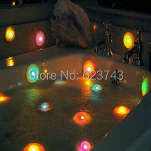 Free Shipping 4Pcs/lot Bath Spa Lights UFO Recon Light, Color changing led lamp floating,colorful bubble led swimming pool light(China (Mainland))