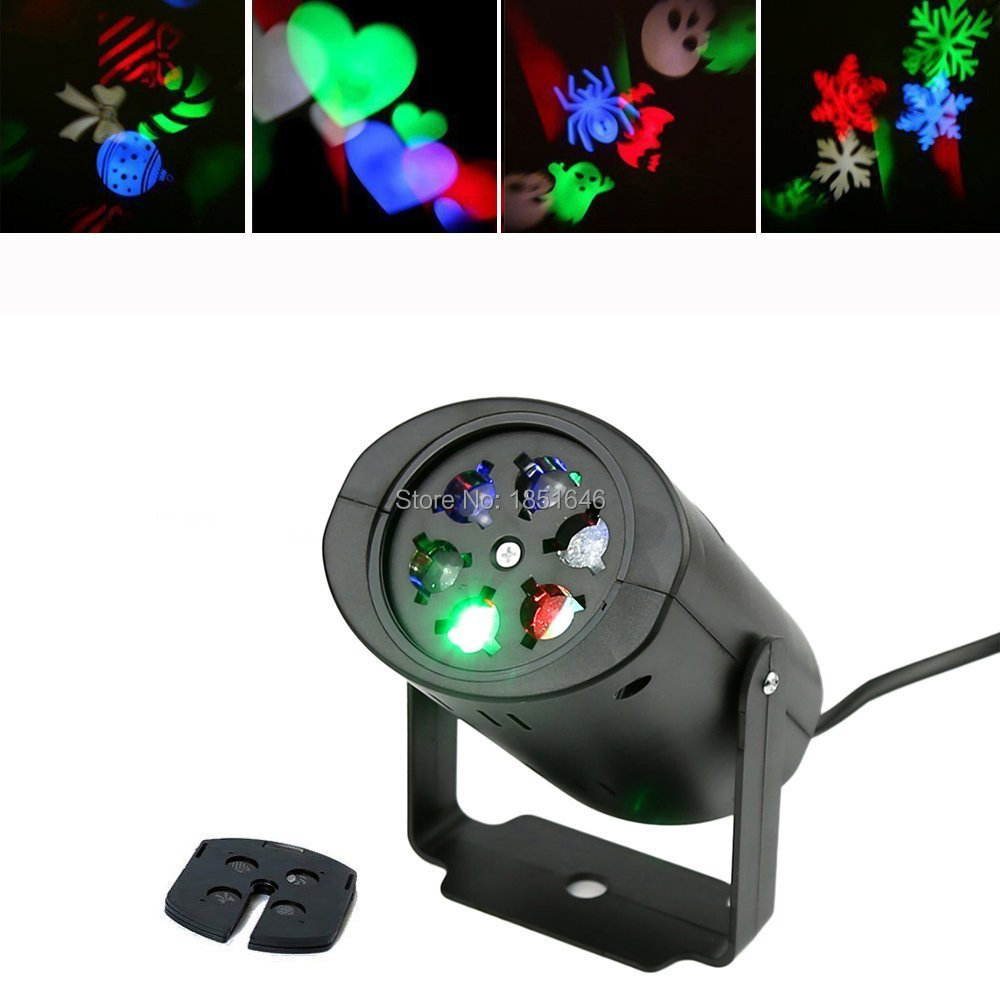 Rotating Lights Birthday,Holiday,Home wedding decoration Laser Projector RGBW LED Stage Lighting Effect Club Party Light EU / US(China (Mainland))