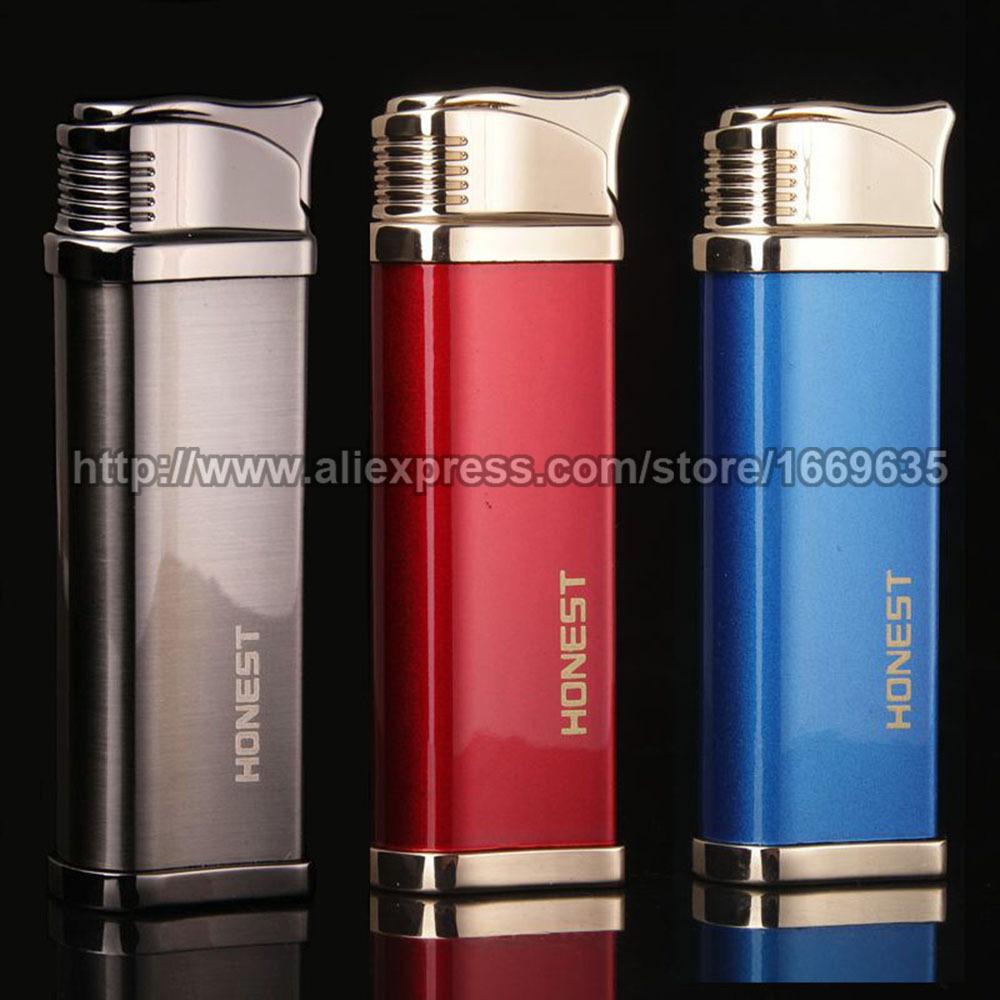 New Honest Refillable Windproof Butane Gas Cigar Cigarette Flame Torch Jet Lighter(China (Mainland))