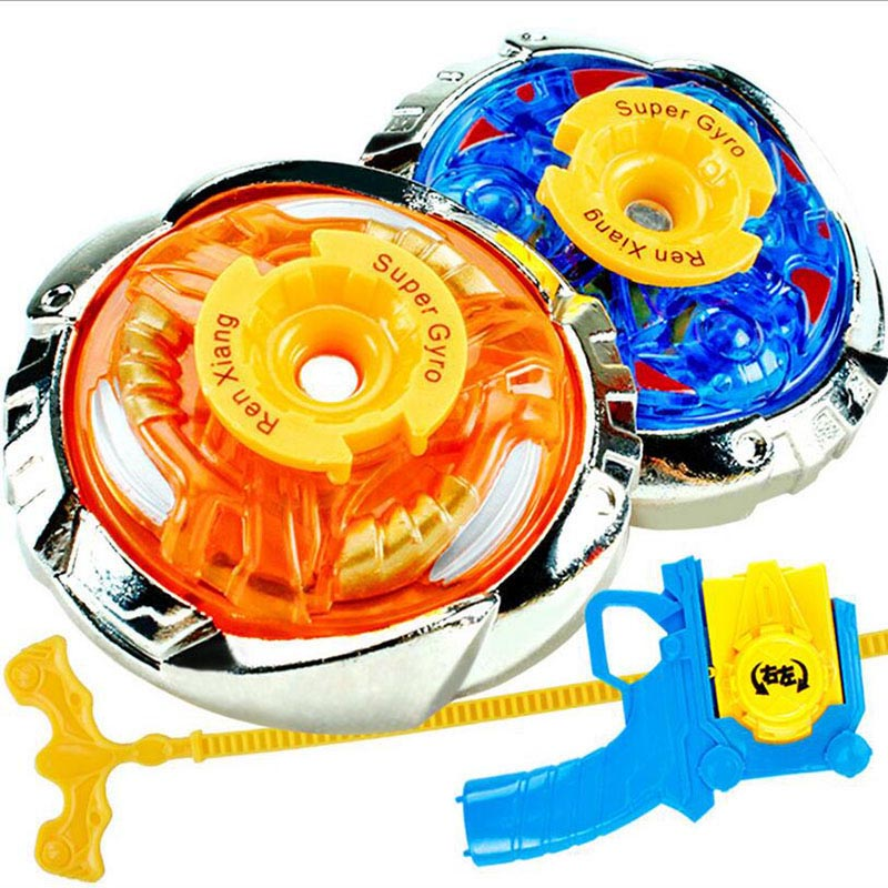 Metal Alloy Spinning Top Beyblade Gyroscope Set With Launcher Kids Cartoon Toys New Year Birthday Gift(China (Mainland))
