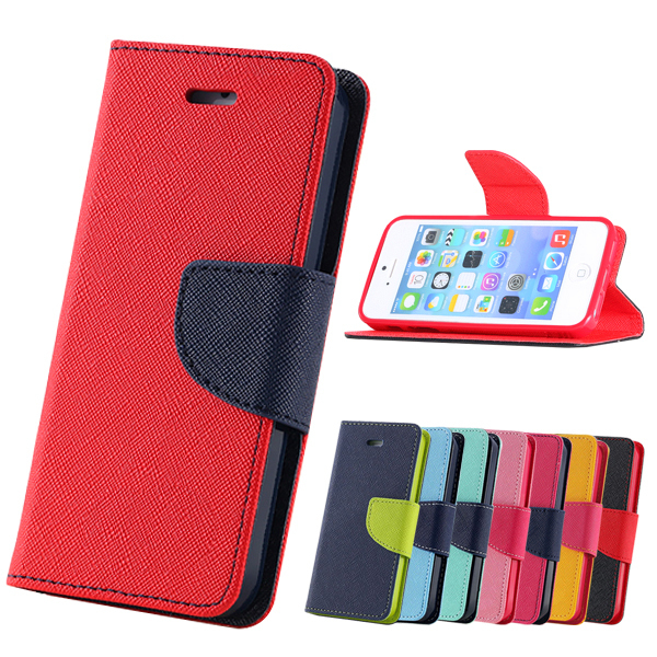 4s Fashion! PU Leather Case iphone 4 4g Wallet Stand Flip Brand Cover Card Slot Black Pink Green YXF03747 - YXF Technology Co., Ltd. store