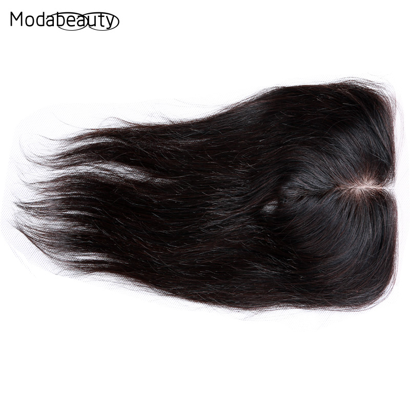 Фотография Grade 6A Brazilian Virgin Hair Straight Silk Base Closure Three/Middle/Free Part Brazilian Straight Lace Closure Hidden Knots