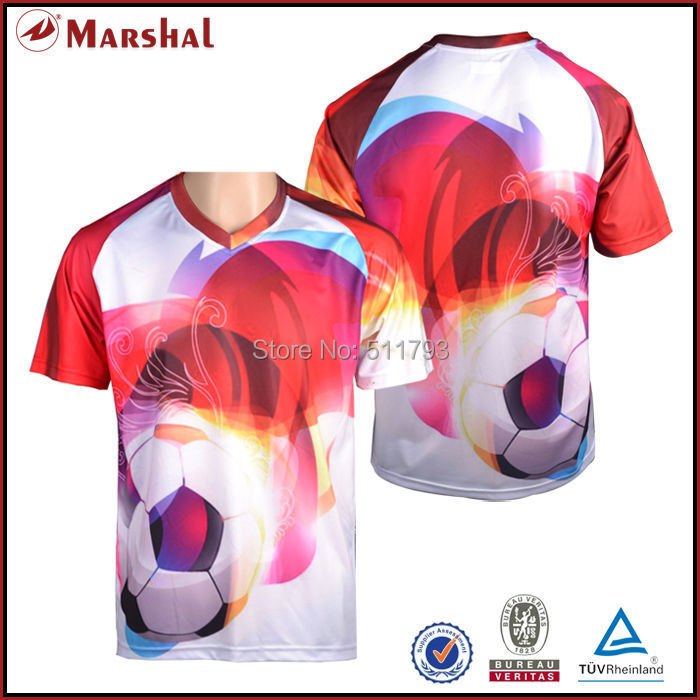 Sublimation soccer jersey thai quality football uniform free shipping grade original soccer jersey(China (Mainland))