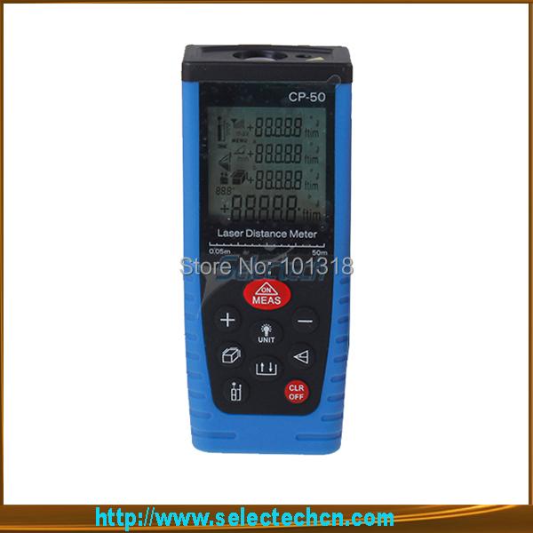 Free ultrasonic range finder digital 50M with Rangefinder Range finder Tape measure wholesale SE-CP-50