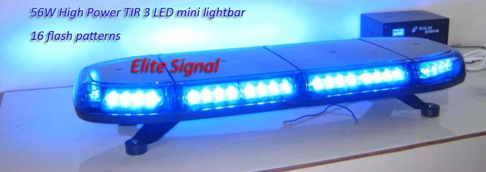 Free shipping by Fedex!! NEW Gen3 1W TIR4 LED MINI lightbar, 56PCS LEDs, UV resistant PC housing, 16 flashing patterns(China (Mainland))