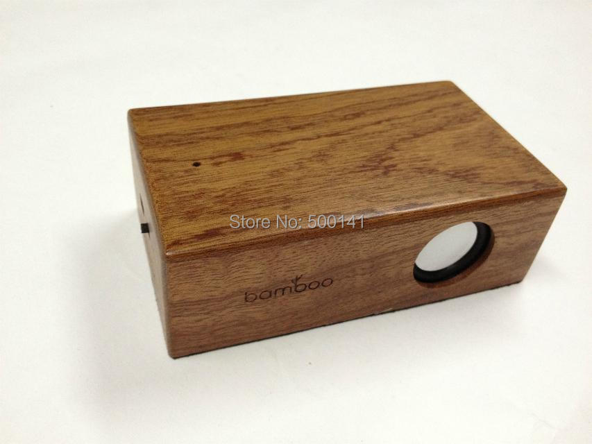 Portable wood Wireless Induction Speakers Music Sound Box Mini Speaker Computer/ iPhone 4/4S/5/5C/5S  -  Syllable Electronics Co., Ltd. store