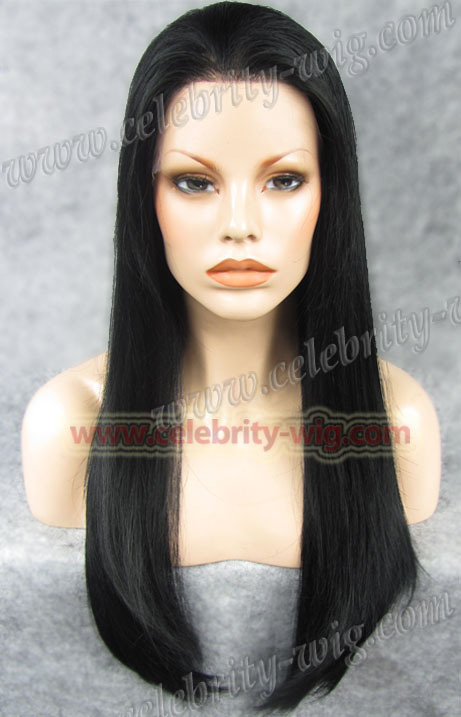 N2-1 New arrival Long straight black Aishwayra Rai Synthetic Lace Front Wig<br><br>Aliexpress