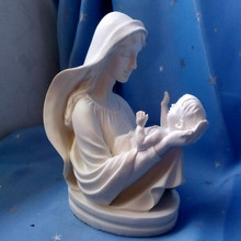 Free Shipping Virgin Mary Holding The Baby Jesus European Style Home Decoration Catholic Holy Things Christian Mother Love Craft(China (Mainland))