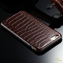 Luxury imitation crocodile PU leather Case For iphone 6 4.7''inch Simple Retro Back Cover Shell Cellphone Protective Casing(China (Mainland))