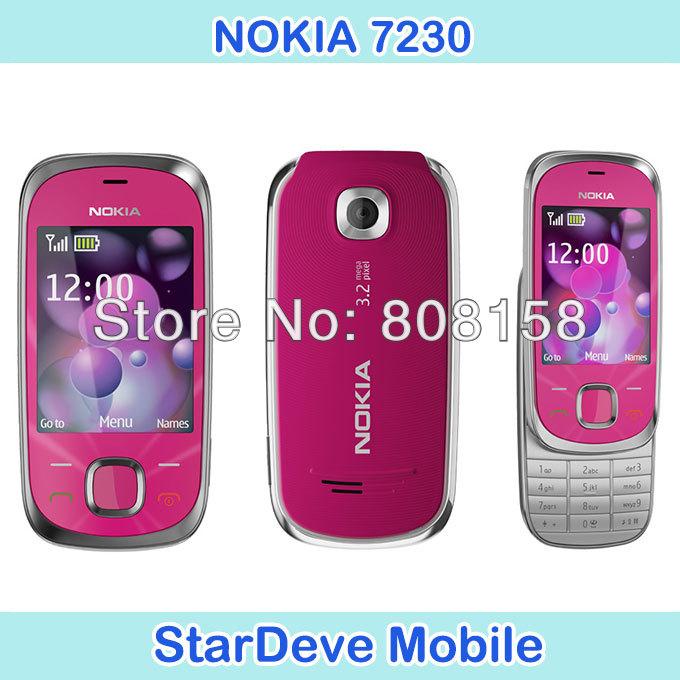 7230 Original Nokia Unlock 7230 mobile phone Bluetooth FM JAVA 3.15MP refurbished(China (Mainland))