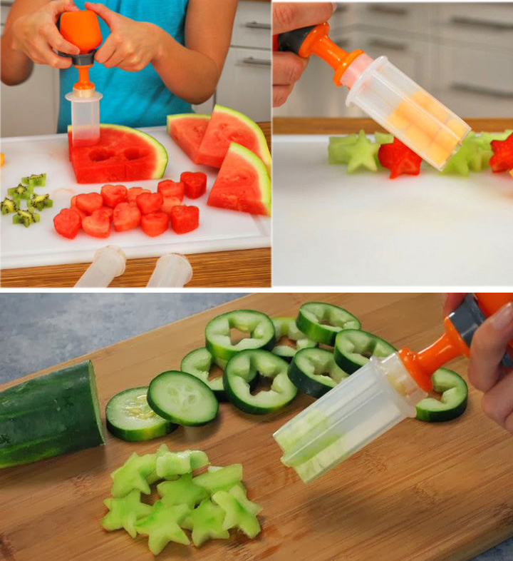 Vente chaude pratique salade de fruits d coration formes for Decoration salade de fruits
