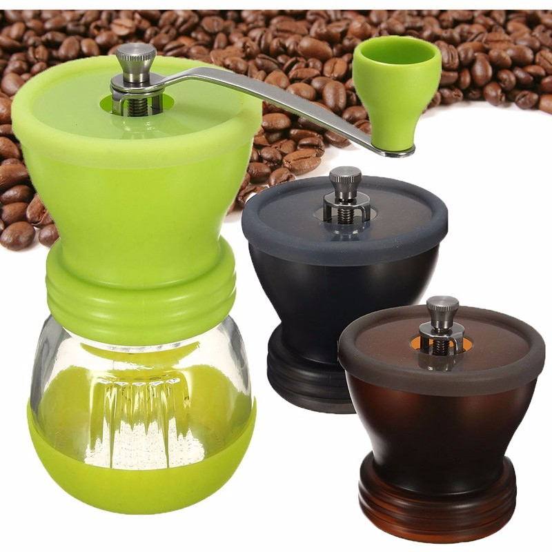 Best Price Manual Ceramic Burr Coffee Grinder Hand Mill Coffee Bean Pepper Grinder Home Office Coffee maker(China (Mainland))