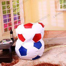 FREE SHIPPING footballbean bag seat without filling giant football chair diameter 120cm beanbags PU LEATHER(China (Mainland))