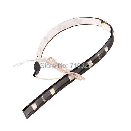 10 pcs 30CM led strips 5050 patch lamp 12 LED car strip chassis soft article light traffic light first light wheel light 5 color(China (Mainland))