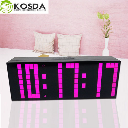 CH KOSDA Digital Large Big Jumbo LED Snooze Countdown Wall Desk Alarm Clock with Thermometer Indoor Calendar Countdown for Days(China (Mainland))