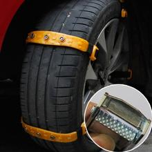 Newest 10pcs/Set Universal Car Snow Chains Thickened beef tendon Simple installation styling Best quality Free shipping(China (Mainland))