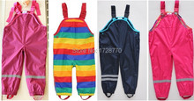 retail brand  Topo*lino boys girls waterproof, windproof overalls, kids waterproof pants, size 98 to 128(China (Mainland))