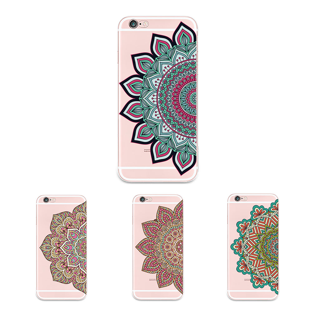 New Girls Flower Cover Cell 5s phone Luxury Soft Transparent Pattern TPU Rubber Silicone Cover Phone 5 Case For Cell Phone 4s(China (Mainland))