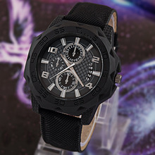 2105 New Mens Quartz Watches Pu Leather Luxury Golden Case Big Dial Men Watch Analog Men Sports Watches