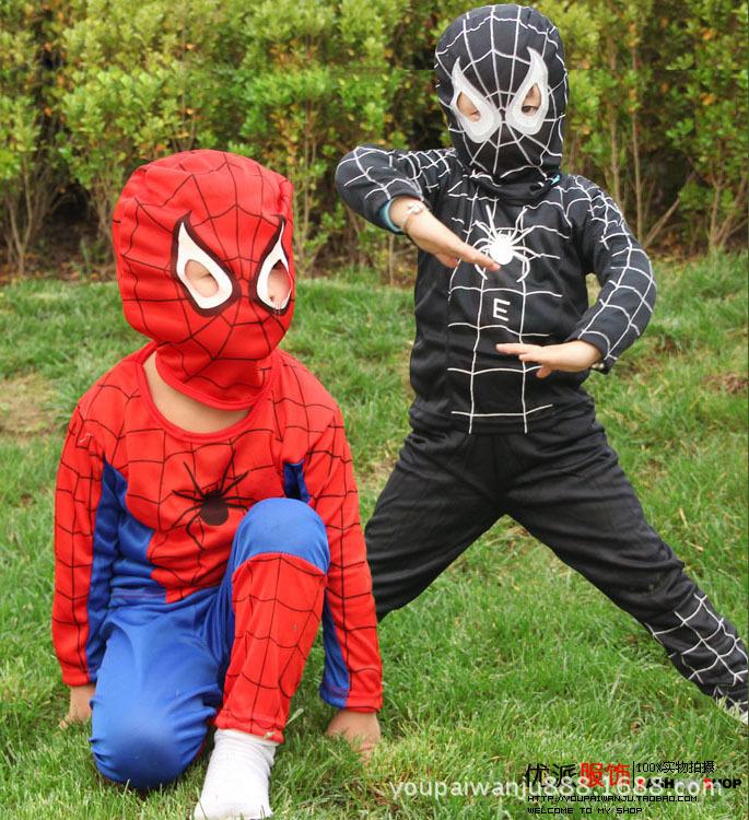 Spiderman Cosplay costumes suit Spider Man children lKids Boy performance clothing set three size Halloween MY209 1 TO 7 Year(China (Mainland))