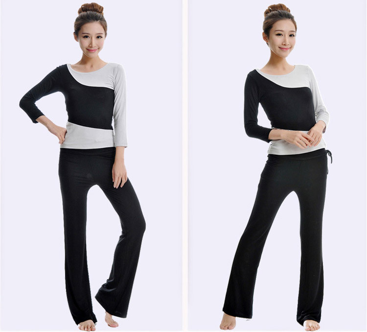 Special Fashion Sports Casual Pants Yoga Clothes Long Sleeve Clothing Suit Modal Positive Yoga Dance Fitness Apparel Brand New()