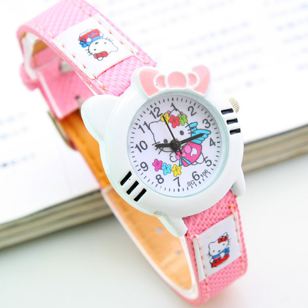 New Cute Hello Kitty Watch Cartoon Watch Fashion Children Kids Boys Girls Students Casual Quartz Analog Wristwatch Clock 151647(China (Mainland))