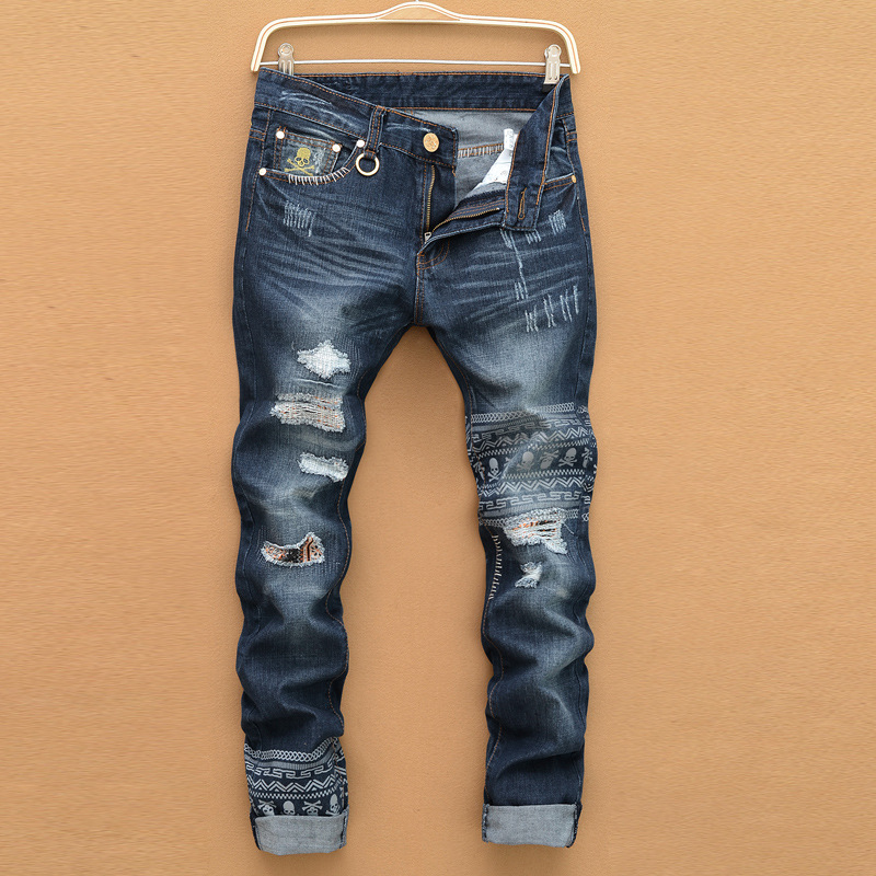 New youth fashion high quality comfortable mens casual men Loose jeans pants long trousers straight simple men hole jeansОдежда и ак�е��уары<br><br><br>Aliexpress