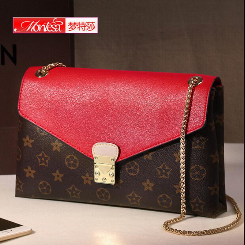 Women's Genuine Leather Chain Handbags Crossbody Bags Shoulder Bag Designer Famous Brand Girls Women Mini - 720