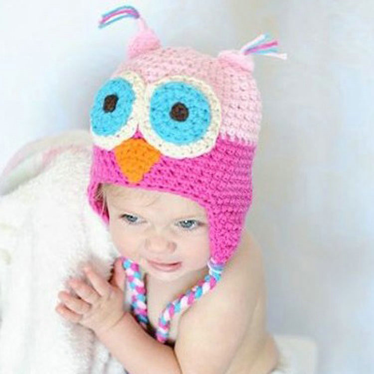 Free Crochet Animal Hat Patterns With Ear Flaps : Retail Multicolor Infant Toddler Handmade Knitted Crochet ...