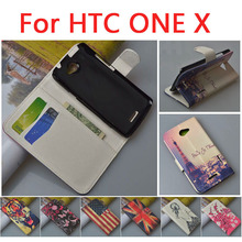 Luxury Pattern Leather Case Cover for HTC One X S720e G23,with stand function and card slots,(China (Mainland))