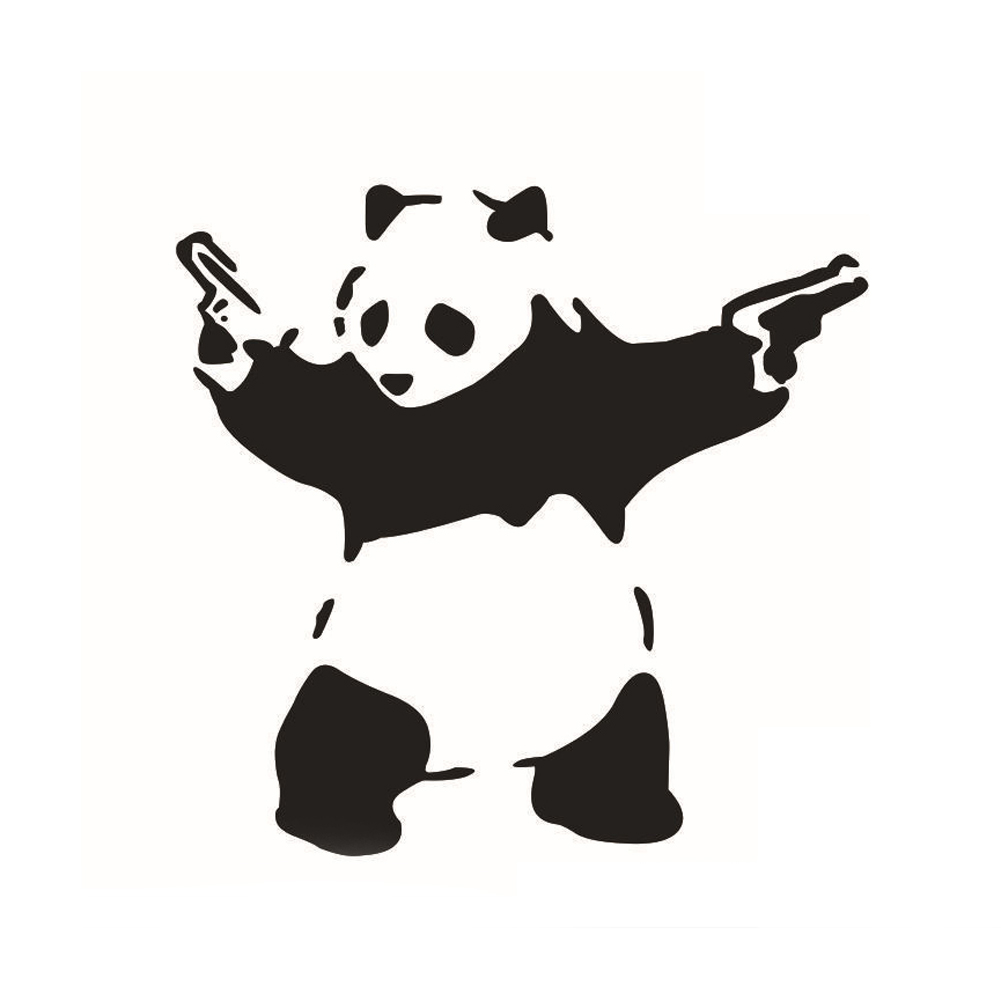 Cute car sticker designs - Cute Panda Car Window Sticker Car Decor Unique Design Black And White Panda Sticker Decoration