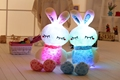 75cm 30 Luminous Stuffed Rabbit Toy LED Light Up Plush Doll Glow Bunny Pillow Auto Color