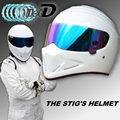 TopGGGear The STIG Helmet TG Fans s Collectable Like as SIMPSON Pig White Motorcycle Helmet with
