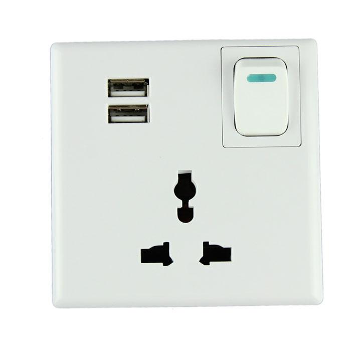 Настенная розетка с USB портами для зарядки