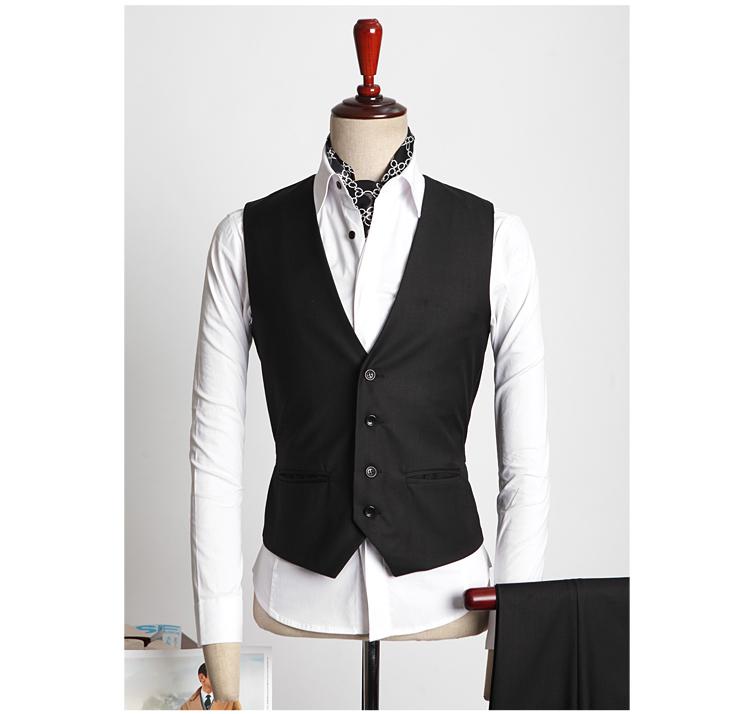 Mens suit vest Slim fit  waistcoat black navy vest chalecos chaleco hombre traje mens dress waistcoats button vest formal