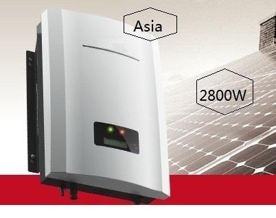 best seller 2800W grid solar inverter, silver color MPPT pv inverter for 3kw solar panel system, single phase output(China (Mainland))