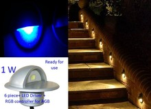 Mini LED Porch Lamp Half Moon Shaped Indoor Outdoor Decoration Lighting for Deck Garden Steps Stairs Patio Paver light(China (Mainland))