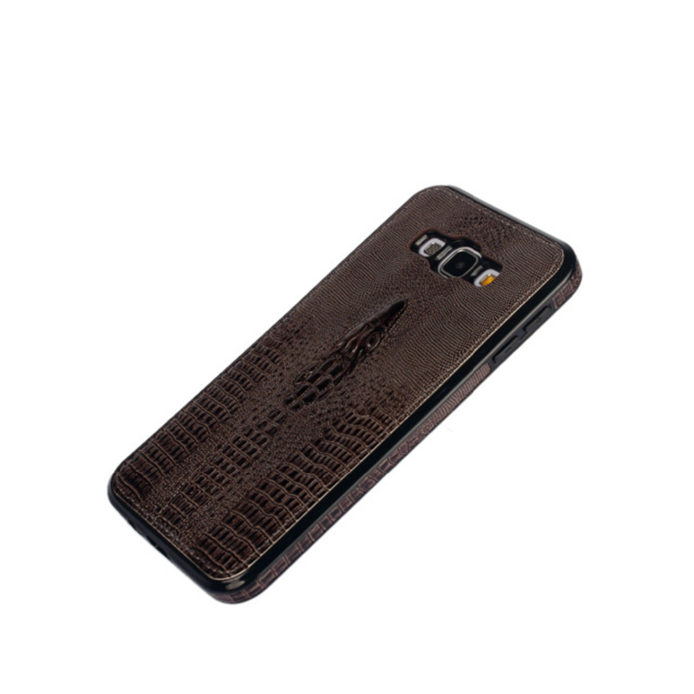 Luxury Real Leather Phone Case Cover For Samsung Galaxy A8 Case Accessories Crocodile Head Pattern Leather Case For Samsung A8