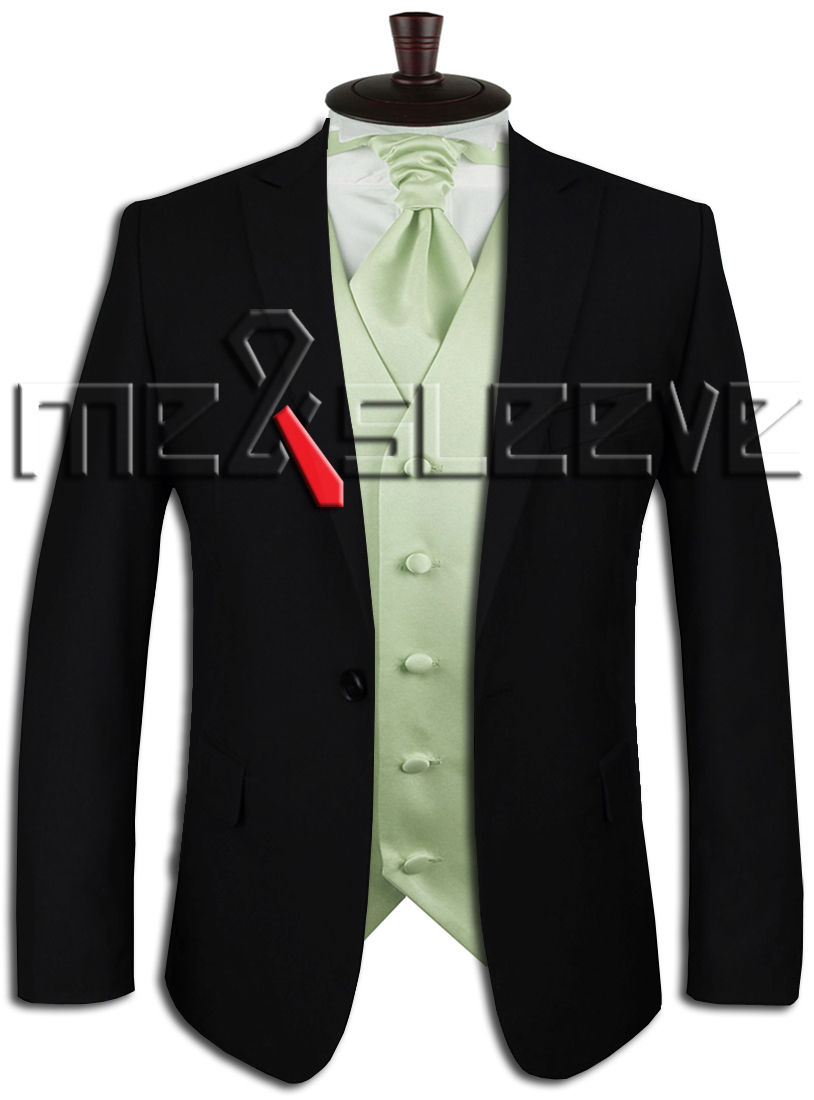 hot sale free shipping solid light peak green suit waistcoat(vest+ascot  tie+cufflinks+handkerchief) - us545 6979e1a309c