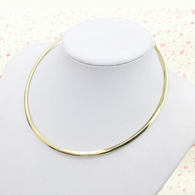 Новый простой дизайн мода панк ювелирные изделия женщин-gilrs готический металл воротник ...