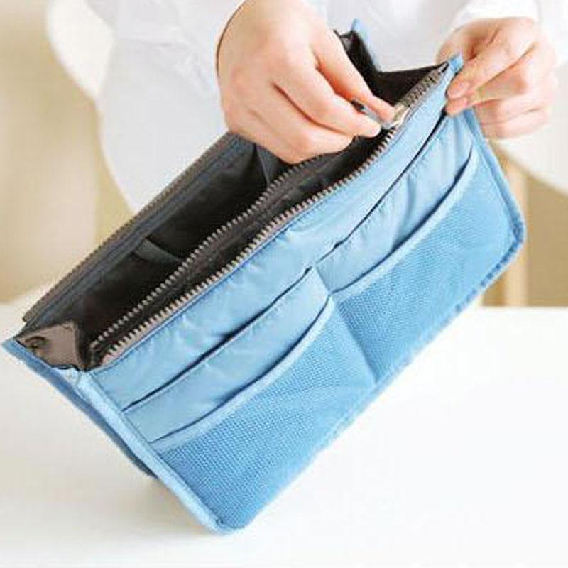 Гаджет  HOT Sale ! 6 Colors Make up organizer bag Women Men Casual travel bag multi functional Cosmetic Bag storage bag in bag Handbag None Камера и Сумки