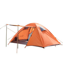 Wholesale outdoor camping tent double bunk quarters full anti- adhesive aluminum pole tent waterproof tent storm(China (Mainland))