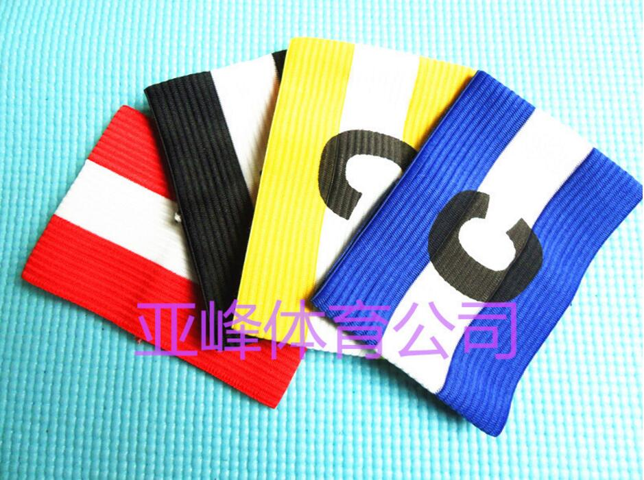 NEW Football Soccer C bands Flexible Sports Adjustable Player Bands Fluorescent Captain Armband(China (Mainland))
