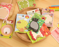 3 Kawaii Cute Forest Zoo Cartoon Planner Sticker School Supplies Stationery Sticky Notes Notepad Post it Papelaria Filofax Papel