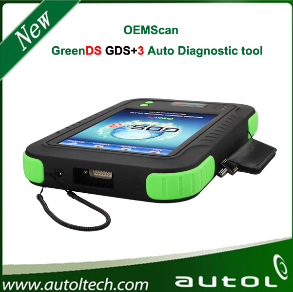 2014 Hot Sale Universal Diagnostic Tool OEMScan GreenDS GDS+3 Cover 48 cars and benz Truck much better than Autel Maxidas ds708(China (Mainland))
