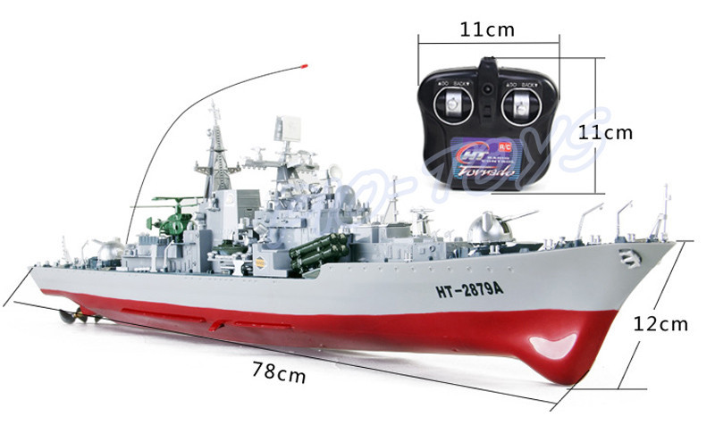 New Summer Gift Destroyer 1/275 RC Racing Ship Boat Army Radio Control Toys Simulational Model Ship History Decoration