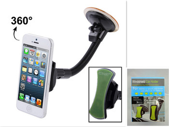 Stand Universal 360 Degree Car Mount Mobile Phone Holder Stand for Apple iPhone 5 Samsung HTC Nokia smartphones Direct SHIPPING